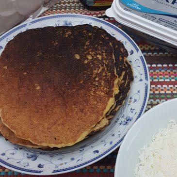 """Cachapas"" Venezuelan Corn Pancakes"