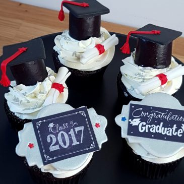 Marshmallows Graduation Caps Cupcake Toppers