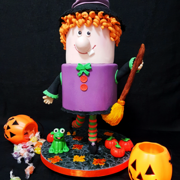 Broom-Hilda Halloween Gavity Defying Cake