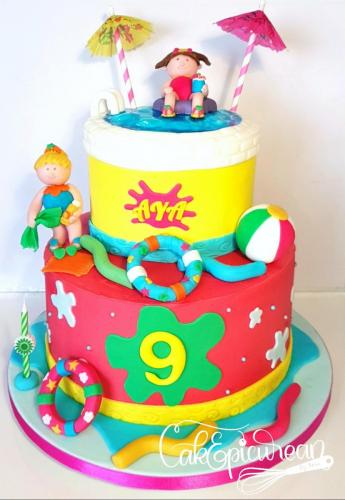 Girls Pool Day Cake