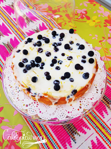 Lemon-Blueberries Cheesecake