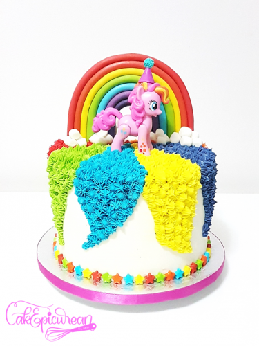 Little Pony Rainbow Cake