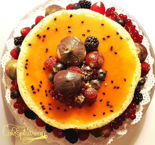 Passion Fruit Japanese Cheese Cake