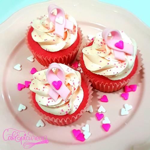 Pink Ribbon Cupcakes