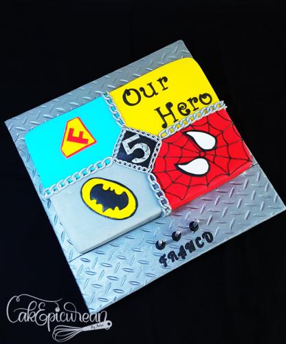 Super Heros Logo Cake