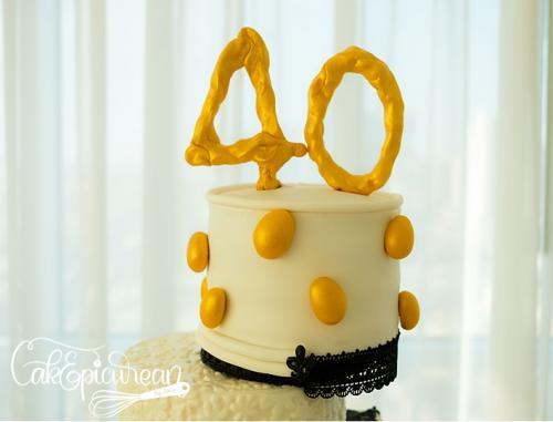 40th Birthday Cake Topper