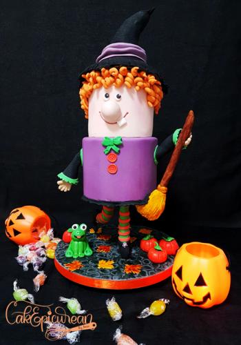 Broom-Hilda Halloween Gavity Defying Cake