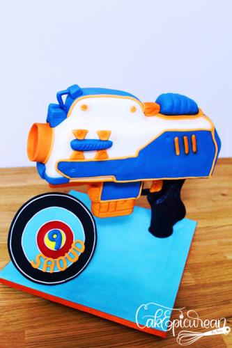 Nerf Gun Gravity Defying Cake