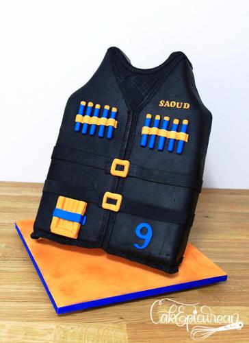 Nerf Vest  Gravity Defying Cake
