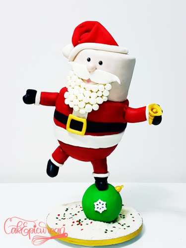 Santas Gravity Defying Cake